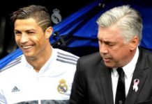 Current Bayern Munich boss Carlo Ancelotti managed Cristiano Ronaldo between 2013 and 2015.
