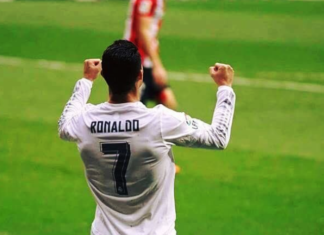 Cristiano Ronaldo celebrating his goal vs Osasuna
