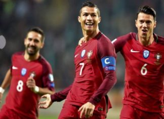 Portugal 6-0 Andorra. Captain Cristiano Ronaldo with four record-breaking goals!