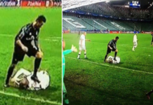 Footage of Cristiano Ronaldo stamping on Legia defender.