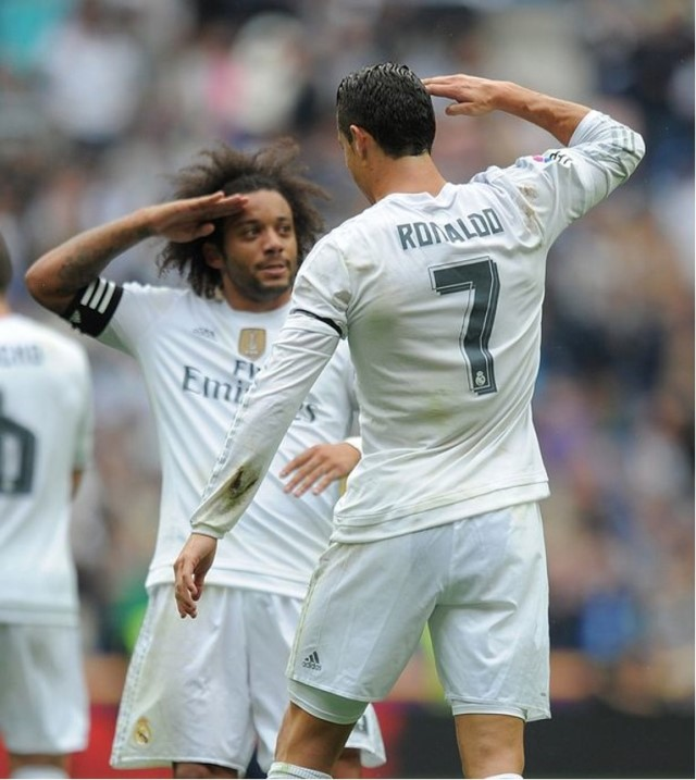 Whenever Ronaldo scores Marcelo was always the one to run up and celebrate with the Portuguese, they loved such moments.