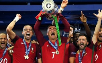 Cristiano Ronaldo and the Portuguese national team win the Euro 2016