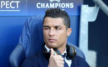 Cristiano Ronaldo - ready for the Champions League. - Wink and Thumbs up