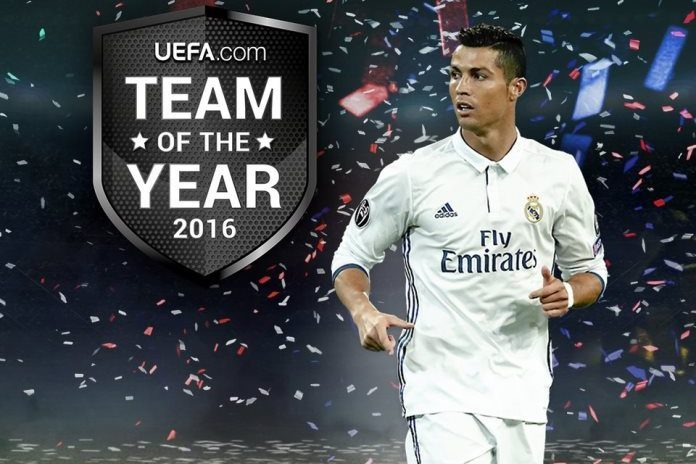 Cristiano Ronaldo include in UEFA Team of The Year for 11th time