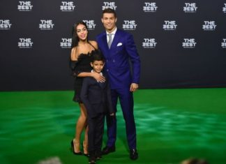 Ronaldo and girlfriend with Ronaldo Jr at FIFA Awards gala