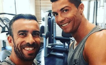 Ricardo Regufe and Cristiano Ronaldo at the Gym. Who is Ricky?