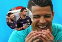 Cristiano Ronaldo laughing troll reaction to Barcelona defeats with Lionel Messi and Luis Suarez playing