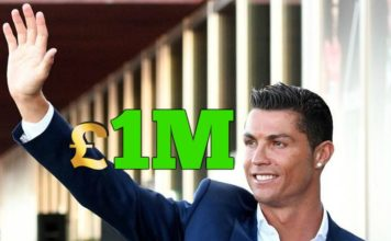 Cristiano Ronaldo is the quickest to hit 1M pounds