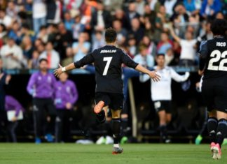 Cristiano Ronaldo scores twice against Celta Vigo