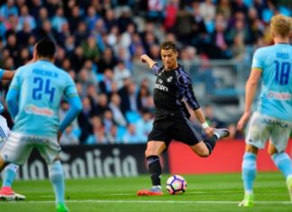 Cristiano Ronaldo puts Real Madrid 1:0 up vs Celta Vigo