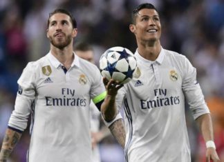 Cristiano Ronaldo and Sergio Ramos in UCL Final