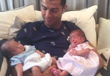 Cristiano Ronaldo father of boy and girl twins