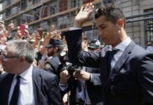 Cristiano Ronaldo dodges press after court hearing