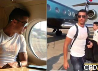 thumbnail_Cristiano Ronaldo in Nikes private jet
