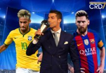 2017 Best FIFA Men's Player Top 3 with Neymar, Cristiano Ronaldo and Lionel Messi