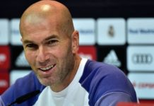 Zinedine Zidane at a press conference