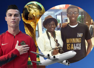 Winning is a lifestyle. Team CRD is going to Russia 2018! FIFA World Cup, Cristiano Ronaldo for Portugal, hand on his heart.