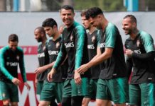 Cristiano Ronaldo prepare with teammates ahead of World Cup clash with Spain