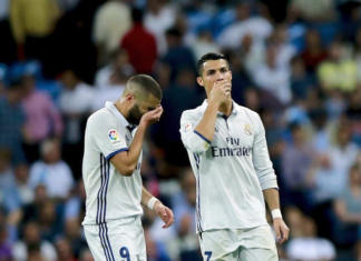 Cristiano Ronaldo's shot led to Karim Benzema's goal but Real Madrid ended up throwing away two points.