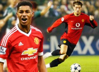 Cristiano Ronaldo has always been Marcus Rashford's inspiration. [Image via Sky Sports]