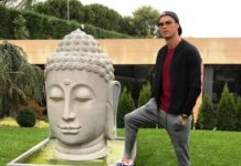 An excerpt of Cristiano Ronaldo's controversial Buddha picture on social media.