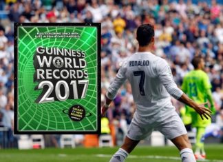 Just like he made it in 2014, Cristiano Ronaldo has written his name in the 2017 Guinness World Records.