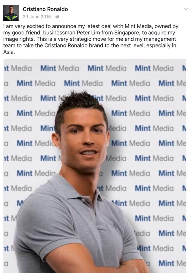 Cristiano Ronaldo announces Mint Media partnership