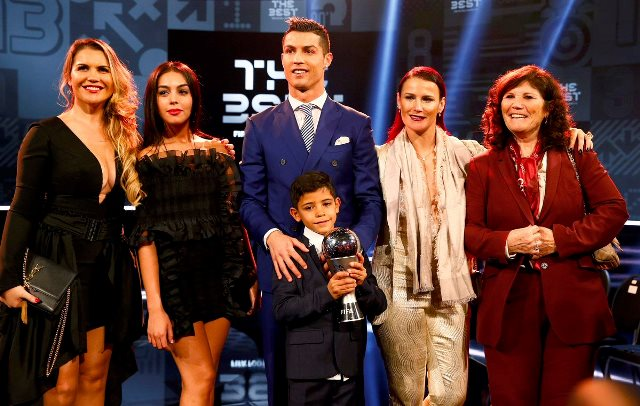 Cristiano Ronaldo with his family