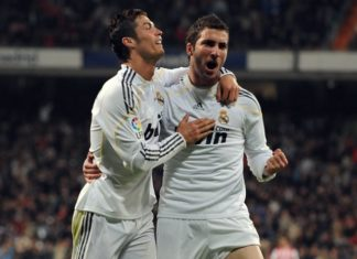 CR7 with Gonzalo Higuain