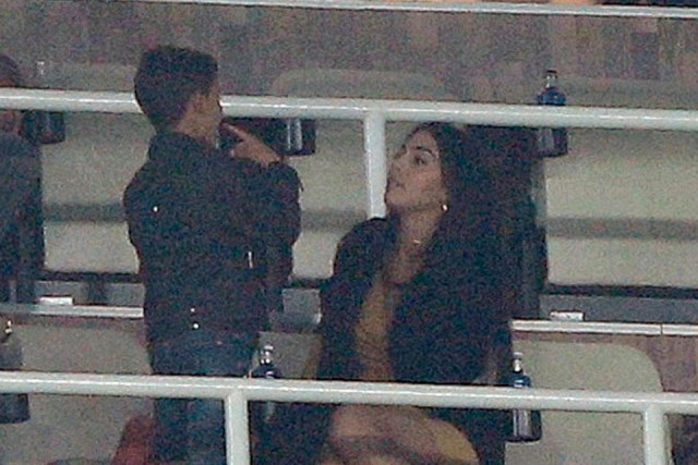 Ronaldo Jr with Georgina Rodriguez and Maria Dolores at the Bernabeu