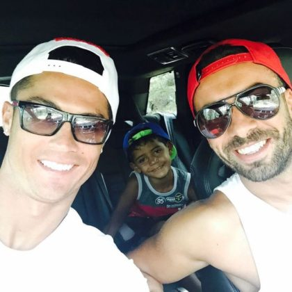 Cristiano Ronaldo, Junior and Ricardo Regufe