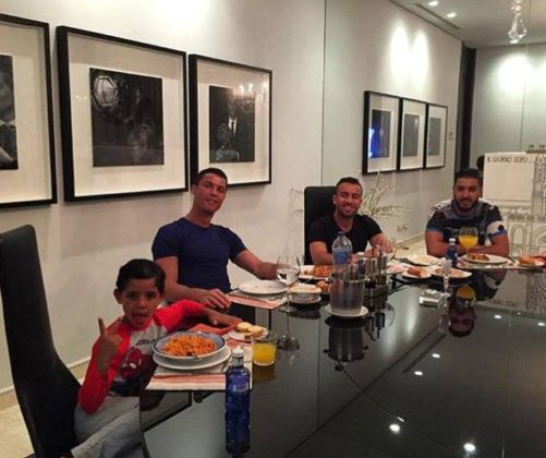 Cristiano Ronaldo, Ricardo Regufe and Junior - Dinner