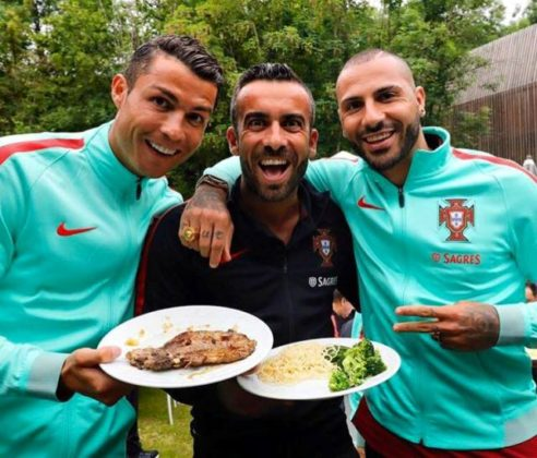 Cristiano Ronaldo, Ricardo Regufe and Quaresma