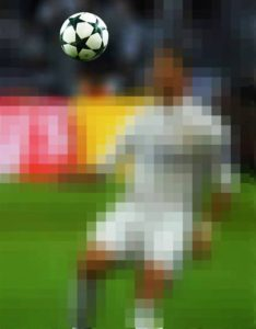 Pixelated image posted on the UEFA Champions League's Facebook page.