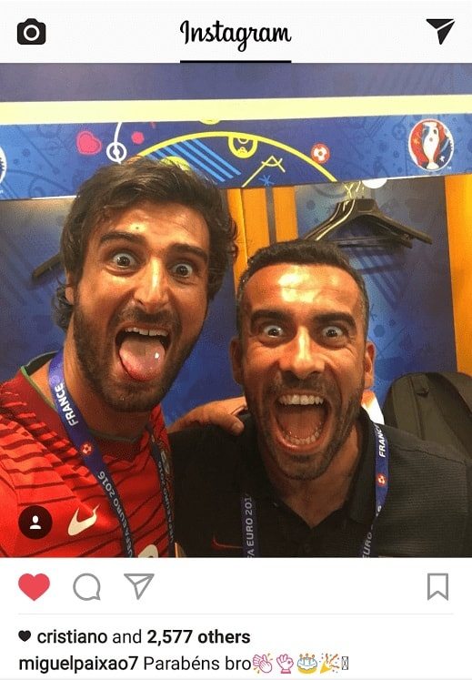 Cristiano Ronaldo reacts to Miguel's Instagram birthday post about Ricardo