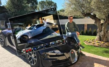 Browse through Cristiano Ronaldo's album of luxurious car collection.