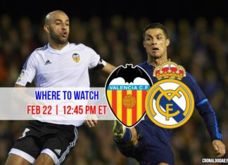 Where to watch Ronaldo in Valencia vs Real Madrid on Feb 22, 2017