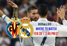 Where to watch Cristiano Ronaldo in Villarreal vs Real Madrid on February 26, 2017