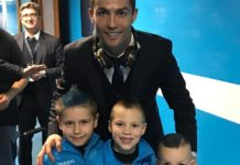 Ronaldo took a photo with the kids of Hamsik