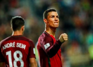 Andre Silva opened the scoring against Hungary and then Cristiano Ronaldo netted a brace to wrap up Portugal's vital 3-0 win in the World Cup qualifiers on Saturday, March 25, 2017.