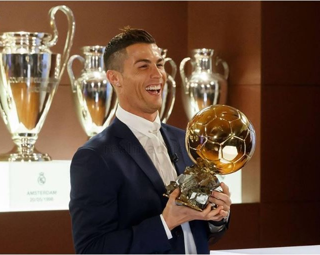 Ronaldo was a happy man when he clinched his 4th Ballon d'Or in 2016