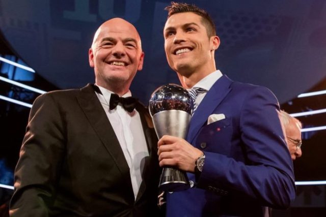 FIFA The Best Cristiano Ronaldo and Infantino