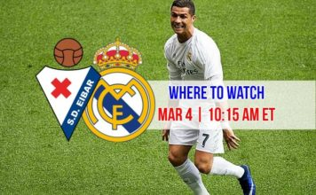 Watch Cristiano Ronaldo in Eibar vs Real Madrid on March 4