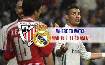 Where to watch Ronaldo vs Athletic Bilbao on March 18, 2017