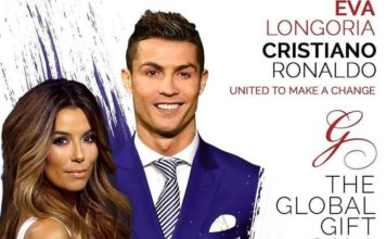 Ronaldo and Eva Longoria Global Gifts Gala