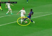 Ronaldo tackled in the box by Umtiti
