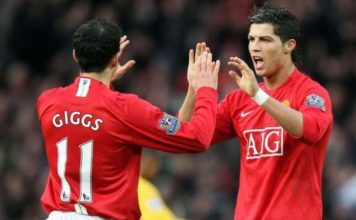Ryan Giggs described Ronaldo as the finest player he's ever played with.