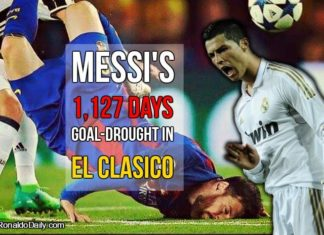 Messi six game drought in El Clasico
