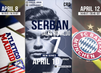 """The first of its kind on the internet, the Youtube series entitled """"Serban talks Ronaldo"""" is set to premiere on Monday, April 10, 2017. Featuring Cristiano Ronaldo vlogger, Adrian Serban from Cluj, Romania."""