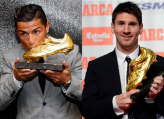 Ronaldo and Messi win European Golden Shoe four apiece